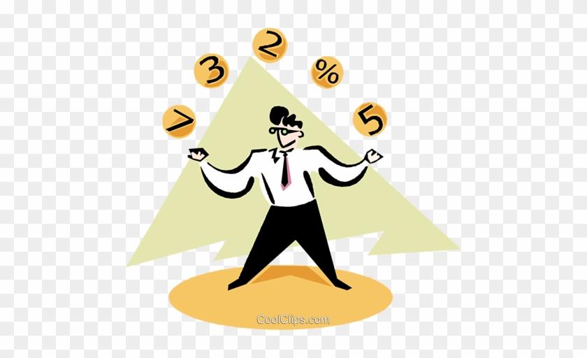 Businessman Juggling Balls Royalty Free Vector Clip - Businessman Juggling Balls Royalty Free Vector Clip #1502042