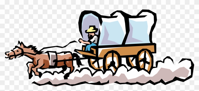 Covered Covered Wagon Transparent & Png Clipart Free - Covered Wagon Clipart,  Png Download - vhv