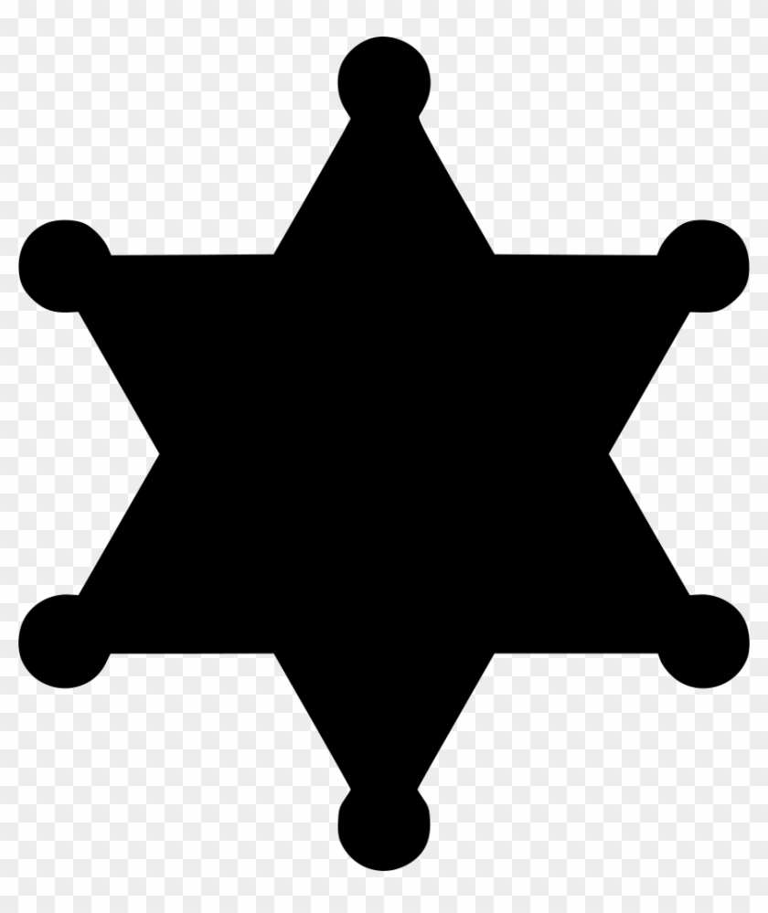 Sheriff Badge Star Law Enforcement Police Comments - Jesus Silhouette Png #234124