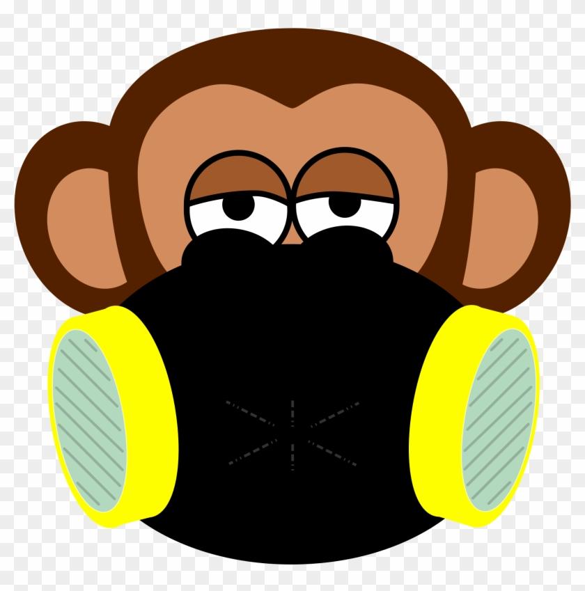 Protection - Custom Monkey Face Shower Curtain #234178