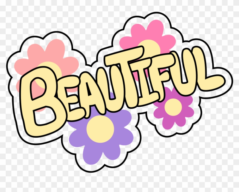 Beautiful Clipart - Beautiful With Flowers Shower Curtain #235095