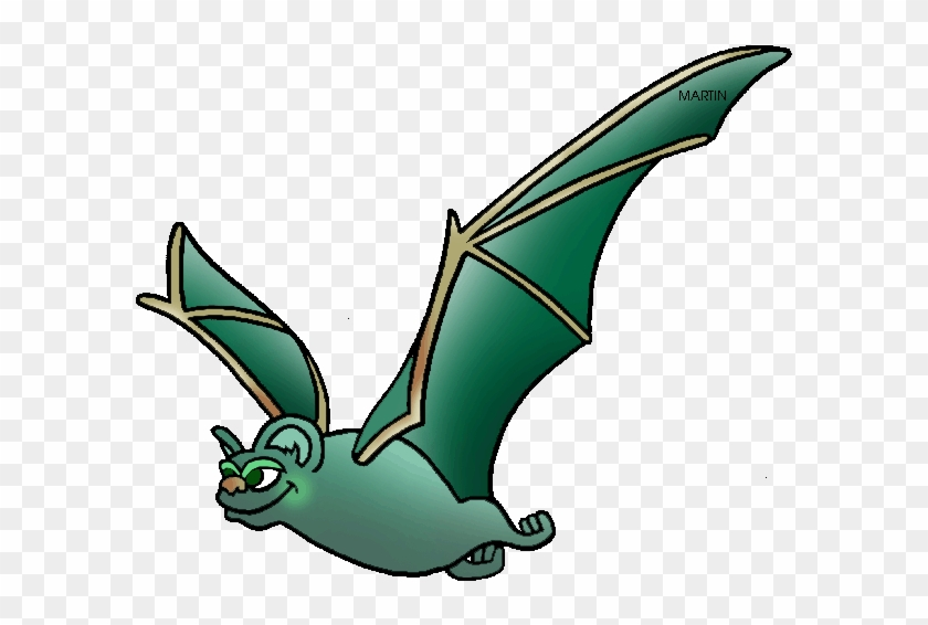 United States Clip Art By Phillip Martin, State Flying - Cartoon Mexican Free Tail Bat #235419