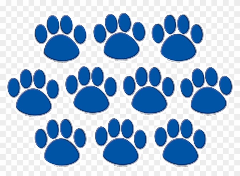 Image Of Blue Paw Print Clip Art Medium Size - Teacher Created Resources 4277 Black Paw Prints Accents #235504