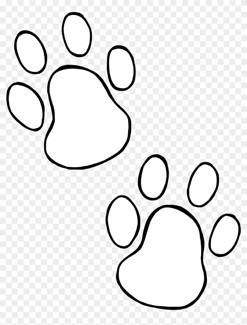 Paw Print Clip Art And Paw Print Wildcats On Dog Paws - Paw #235526