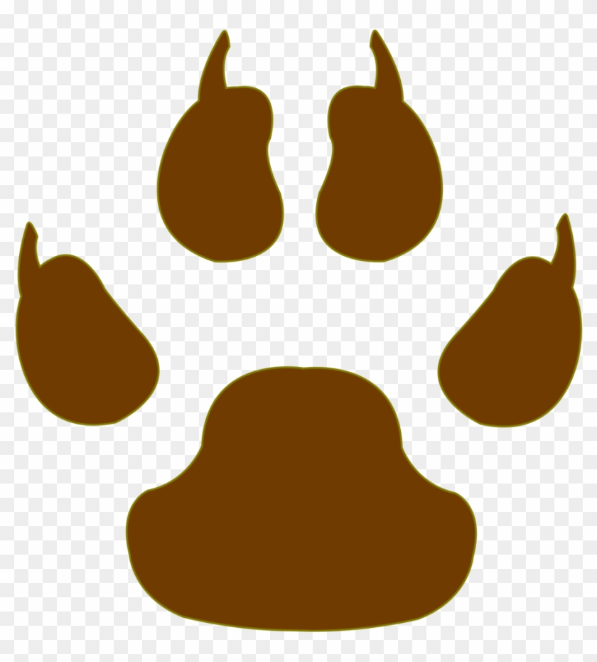 Vector Cm Tiger Paw By Barrfind Vector Cm Tiger Paw - Dog Paw Print Vs Cat Paw Print #235592