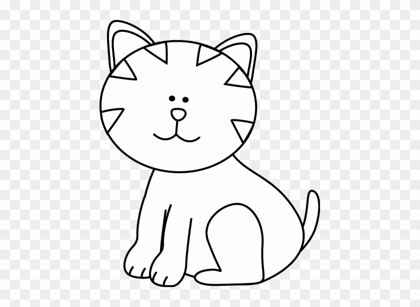 Cute Dog And Cat Clip Art Cute Cat Clip Art Black And White Free Transparent Png Clipart Images Download