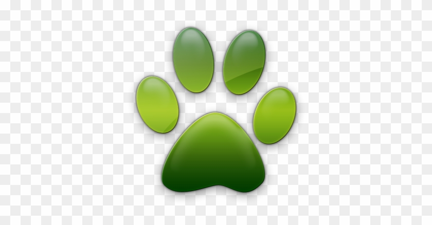Pawprint - Green Cat Paw Print #235646