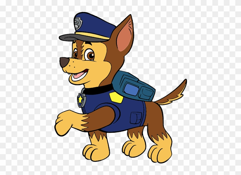 clipped by cartoon clipart paw patrol chase clipart free