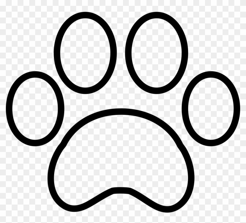 White Paw Print - Paw Print Outline Svg - Free Transparent
