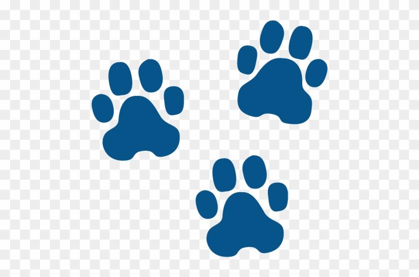 Pawprintsscreen - Blue Dog Paw Prints #235950