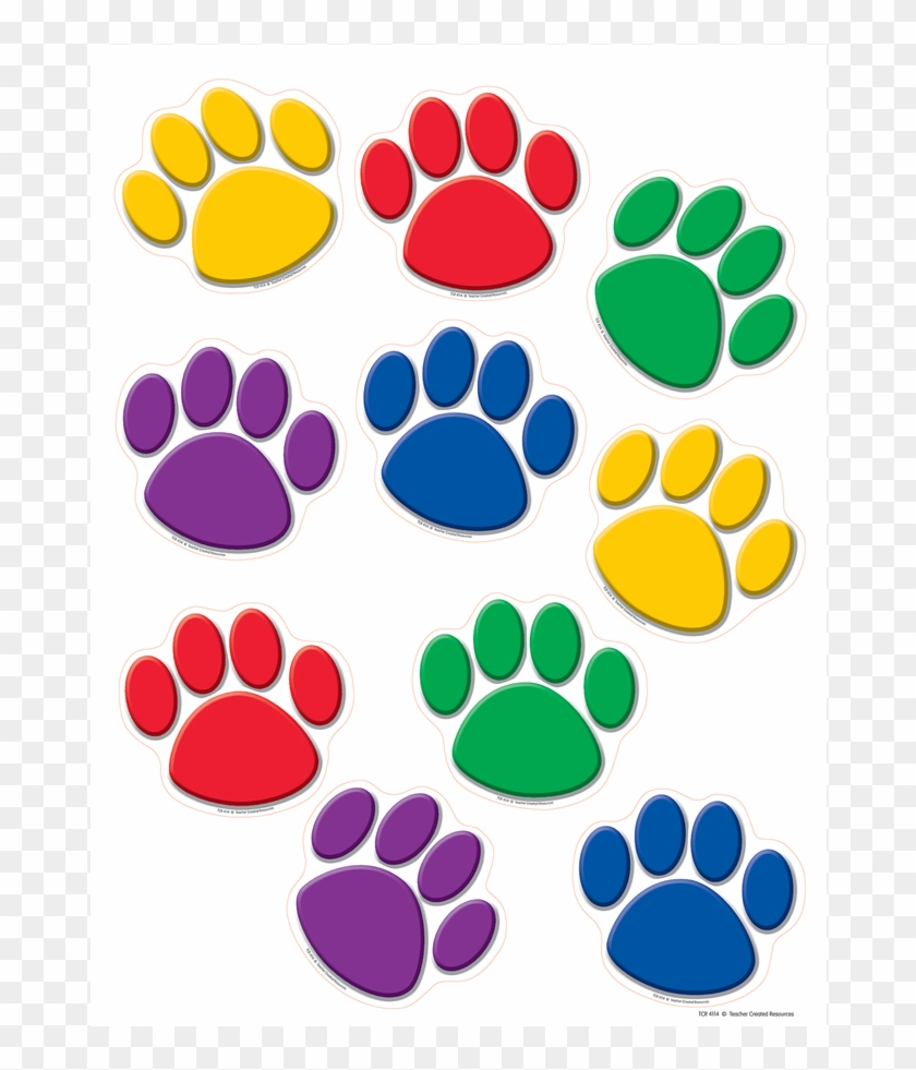 Tcr4114 Colorful Paw Prints Accents Image Yellow Paw Patrol Paw Free Transparent Png Clipart Images Download