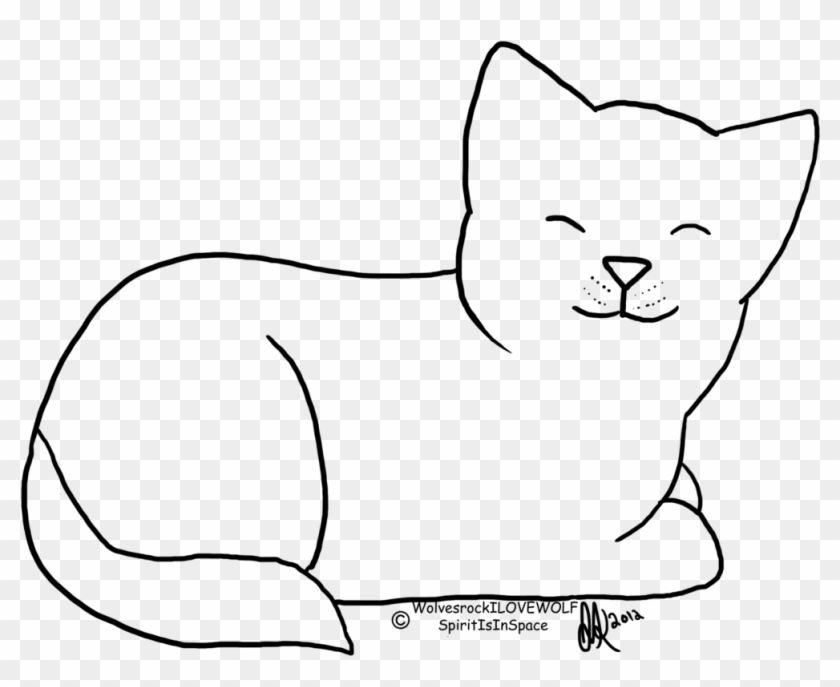 Cat Contest Line Art By Spiritinspace On Deviantart - Line Drawing Of A Cat #236061