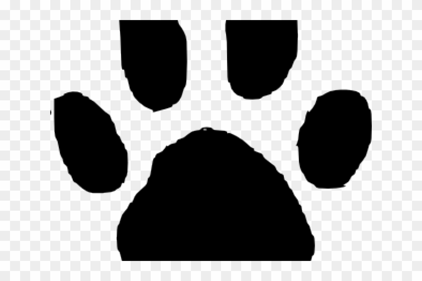 Animal Footprints Cliparts - Cafepress Paw Print Template Tile Coaster #236108