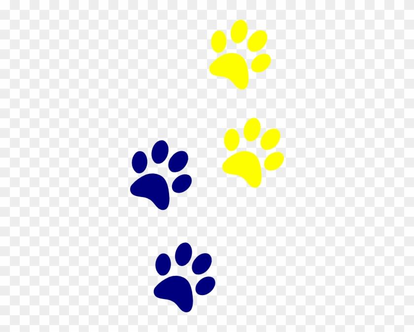 Blue Paws Clip Art - Dog Paw Prints Clip Art #236140
