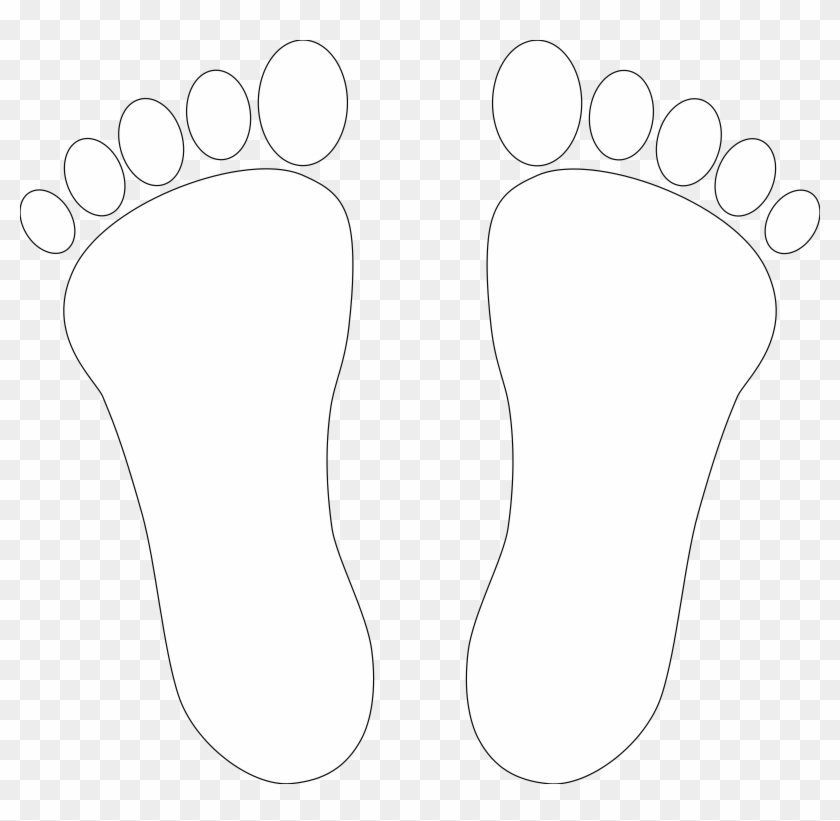 Footprint Clipart Right Foot - Foot Clipart Black And White #236165