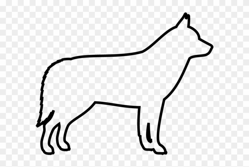Siberian Husky Rubber Stamp Outline Of A Husky Free Transparent