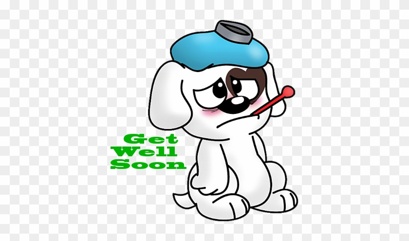 Get Well Soon Sick Puppy Graphic - Get Well Soon Cartoon #236472