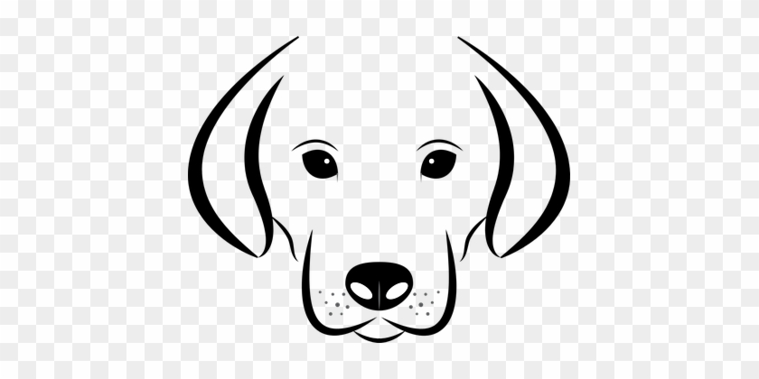 Dog Head White Background Labrador Animal Dog Face Black And White Clip Art Free Transparent Png Clipart Images Download