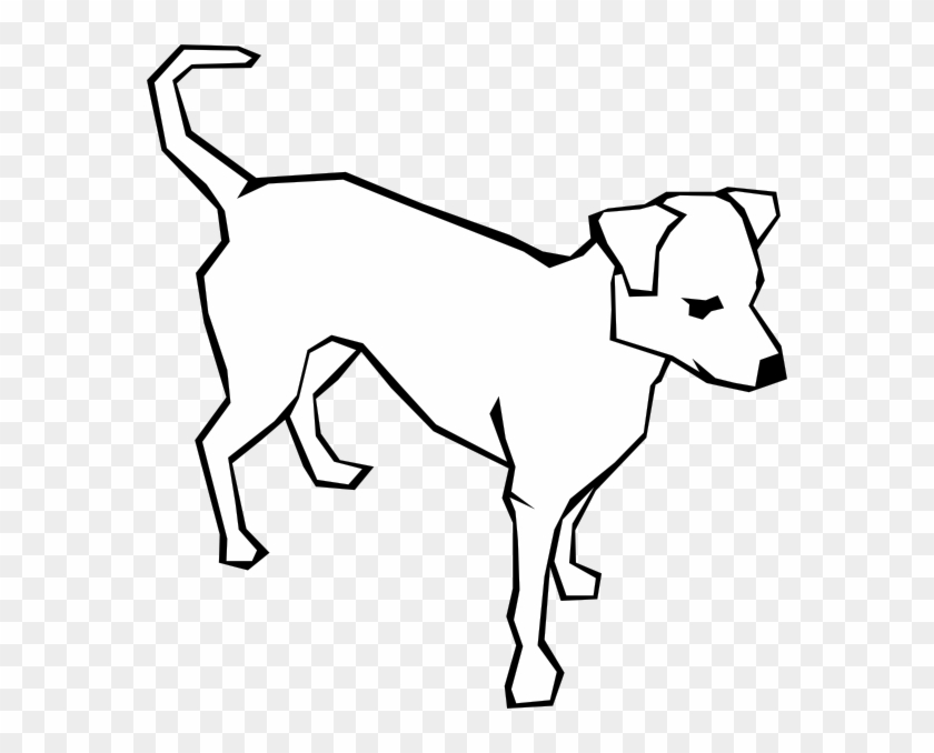 Dog Simple Drawing Clip Art Free Vector Simple Black And White