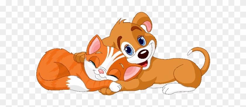 Dog And Cat Cartoon Animal Images - Cartoon Dog And Cat #236584