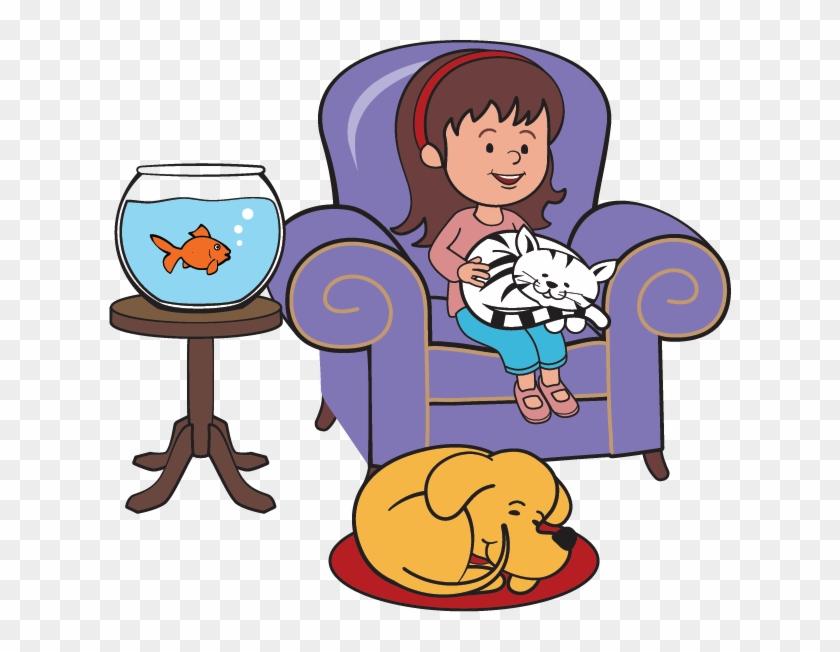 Pet Sitting Cat Dog Clip Art - Pet Sitting Clipart Png #236627