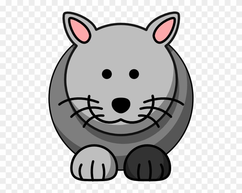 Cartoon Grey Cat Clip Art - Cartoon Cat Clip Art At Clker #236789