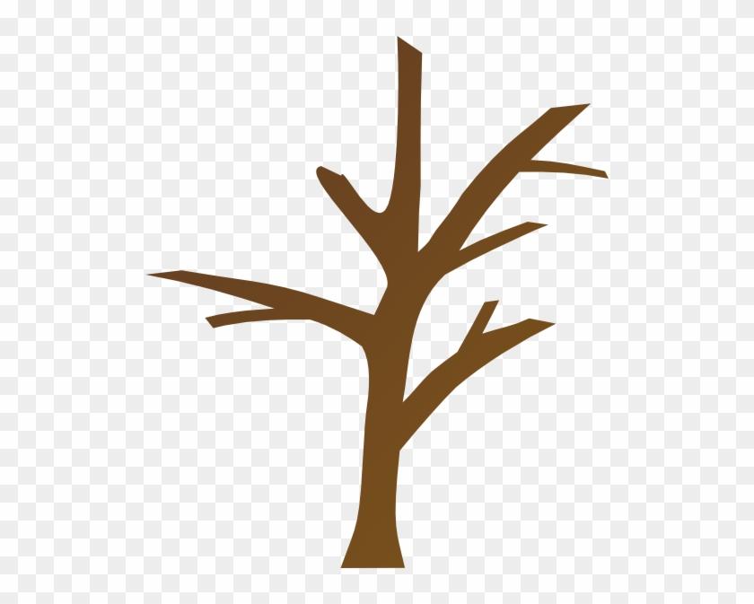 Tree Trunk Clipart - Bare Tree Branch Clip Art #236994
