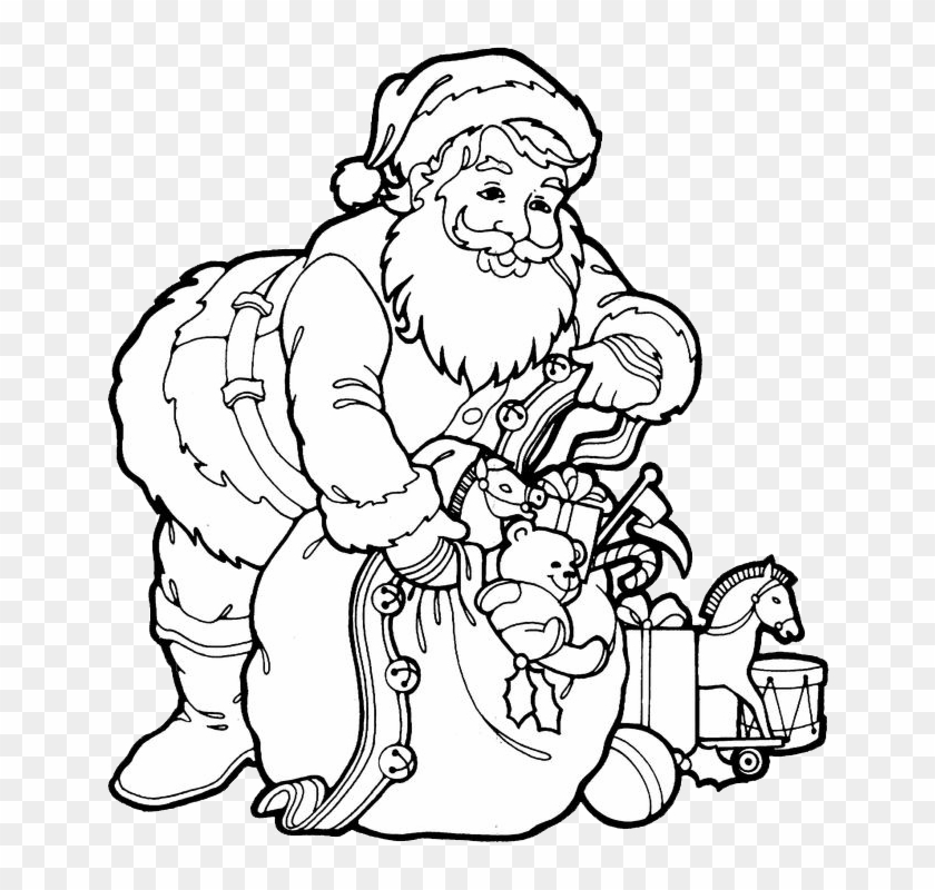 santa claus coloring pages 3 drawings of christmas festival