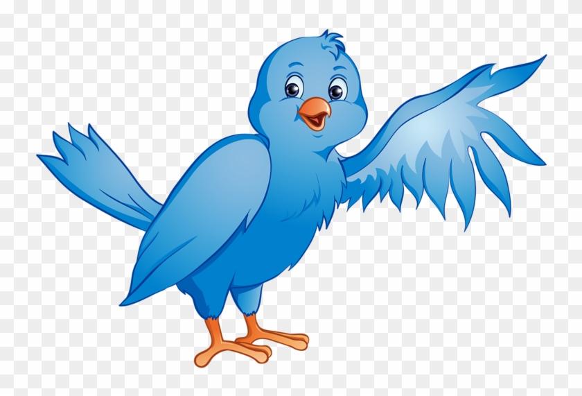 Blue Bird Cartoon In A Nest #237724