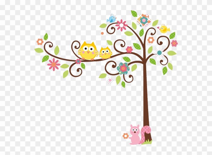 Arvore Com Corujinhas Fofas Moldes - Roommates Wall Decal Rmk1439slm Scroll Tree Megapacks #237859