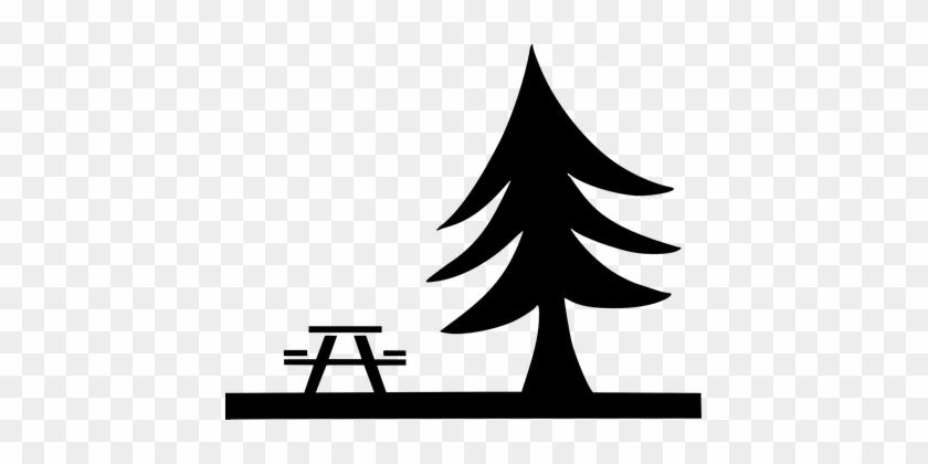 Picknick Rastplatz Baum Entspannung Anhalt - Picnic Symbol #237863