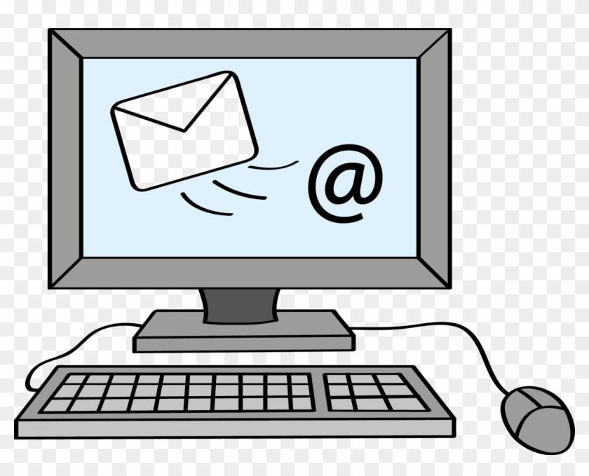 Auf Dem Bildschirm Ist Ein Briefumschlag - Email Schreiben Clipart #237995