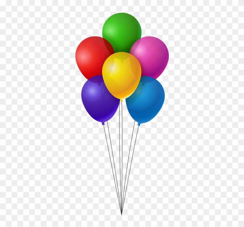 Luftballons Geburtstag Clipart Baloes Coloridos Png Free
