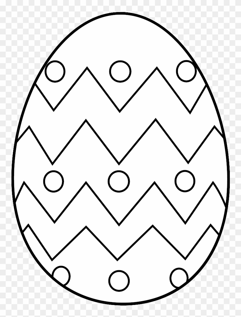 - Easter Egg Clipart Black And White - Easter Eggs To Colour - Free