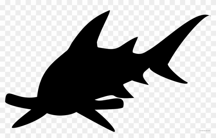 Public Domain Clip Art Image - Hammerhead Shark Silhouette Png #238847