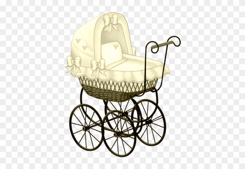 Yellow Baby Carriage Clip Art - Vintage Baby Stroller Clipart #239250