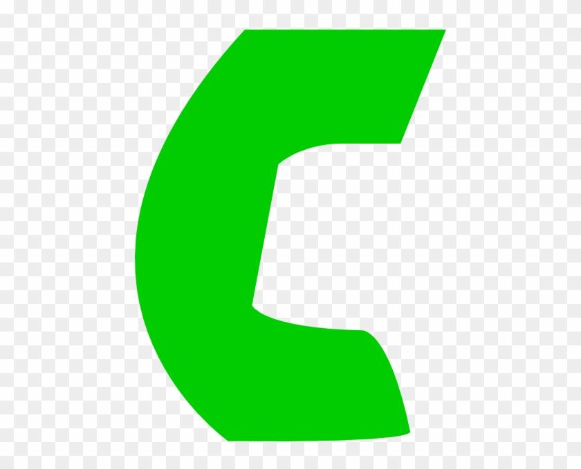 Green Call Phone Icon #239595