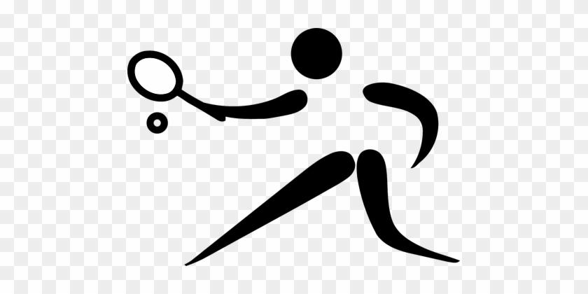 Tennis Sports Pictogram Logo Olympics Olym - Sports Pictogram #239625