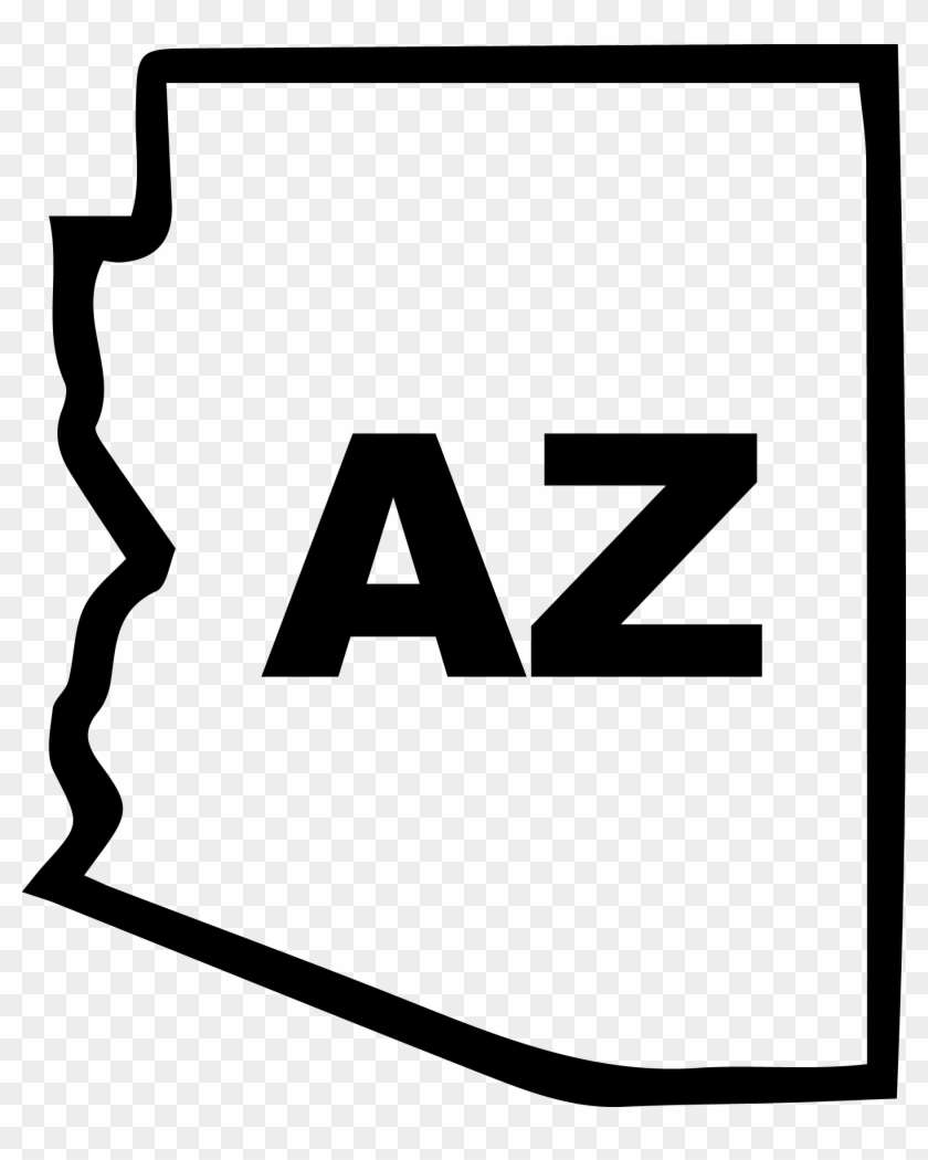 Az Outline Gallery Arizona State Black And White Free Transparent Png Clipart Images Download