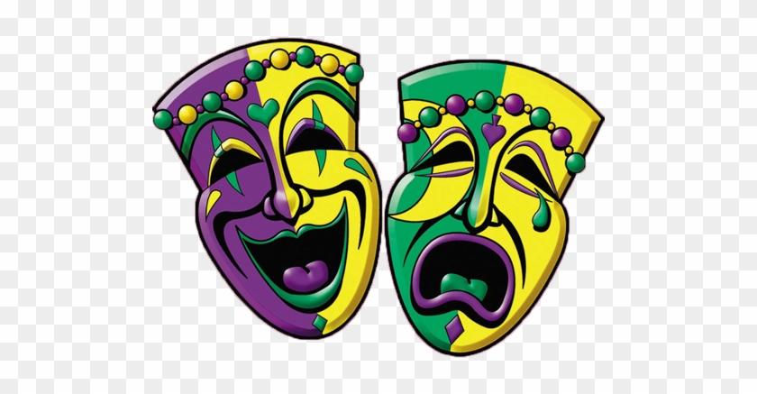 Mardi Gras Snacks - Mardi Gras Comedy Tragedy Masks #240728