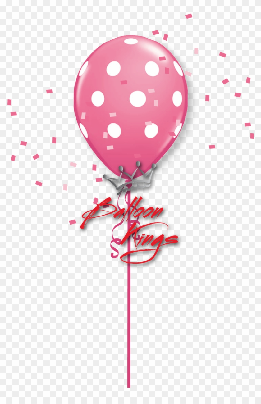 11in Rose Polka Dots - Pink Polka Dot Balloon Png #240794