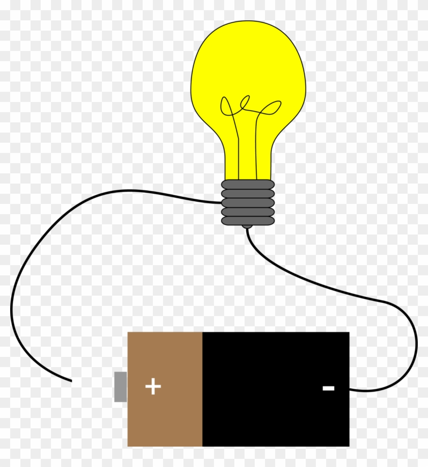 Bulb Clipart Electric Current - Battery And Light Bulb Circuit #240934