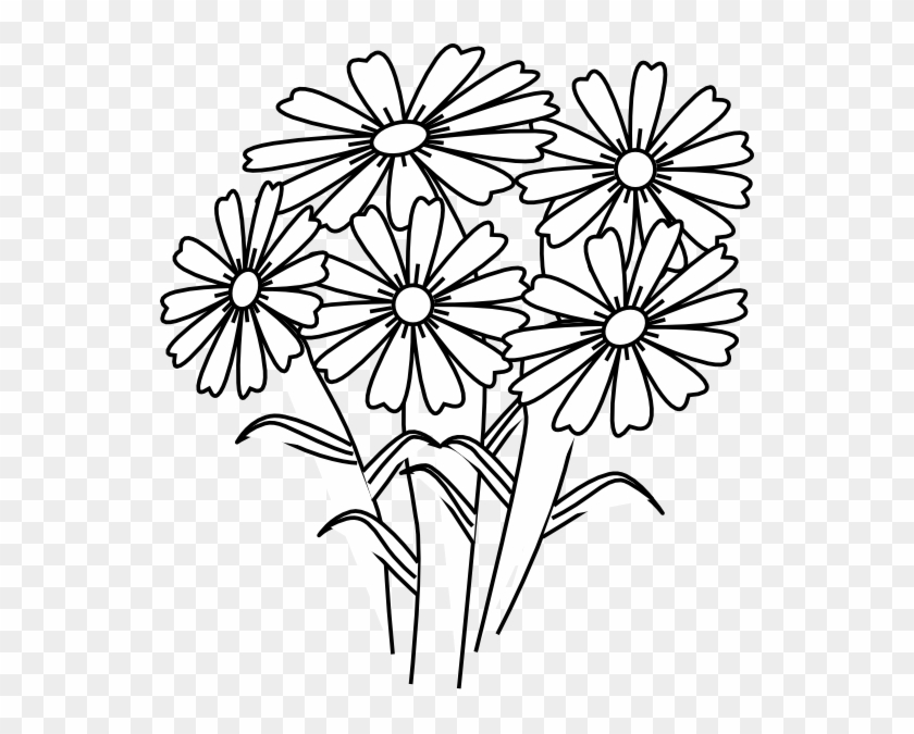 - Coloring Book Flowers Clip Art At Clker Com Vector - Flowers Coloring  Clipart - Free Transparent PNG Clipart Images Download