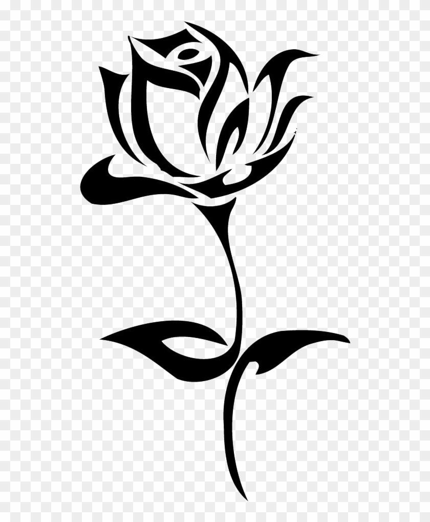 Tattoo Black Rose Drawing Clip Art