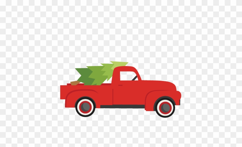 Christmas Truck With Treesvg Scrapbook Cut File Cute Christmas Truck Svg Free Transparent Png Clipart Images Download