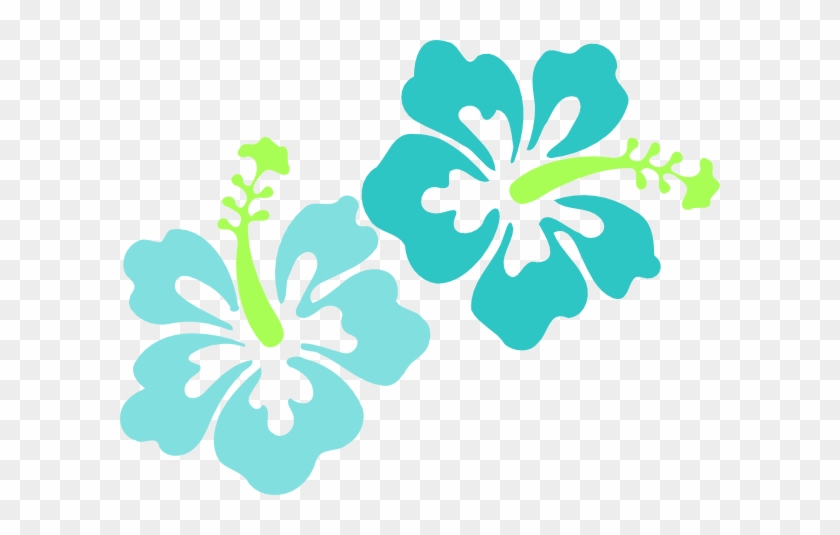 Back Flowers For Blue Hawaiian Flowers Clip Art Luau Flowers Clip