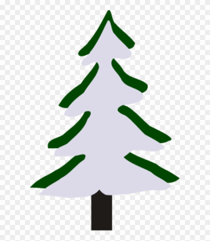 Pine Tree In Winter - Winter Tree Clipart Small #35896