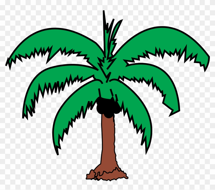 Coconut Palm 2 - Coconut Tree Leaves Clip Art #36041