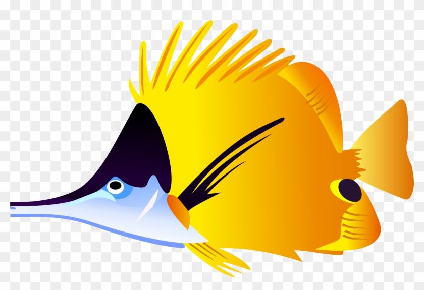 Tropical Fish Aquarium Clipart - Tropical Fish Shower Curtain #36039