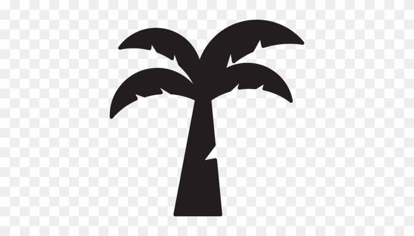 Coconut Tree Vector - Coconut Tree Icon Vector #36138